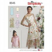 8545 Simplicity Pattern: Misses' Slip Dress or Camisole